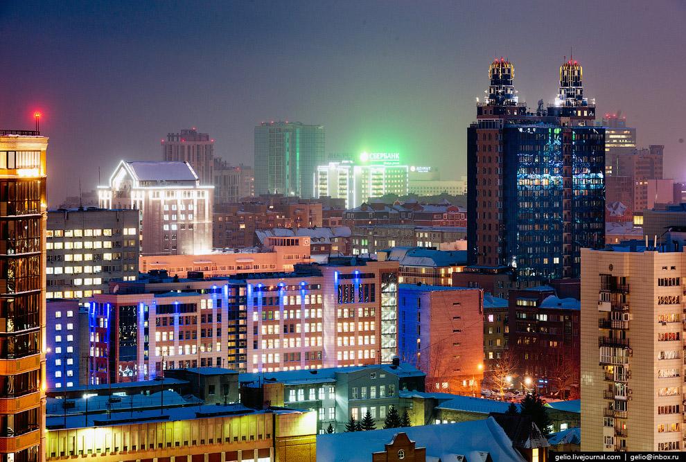 Краски вечернего Новосибирска.