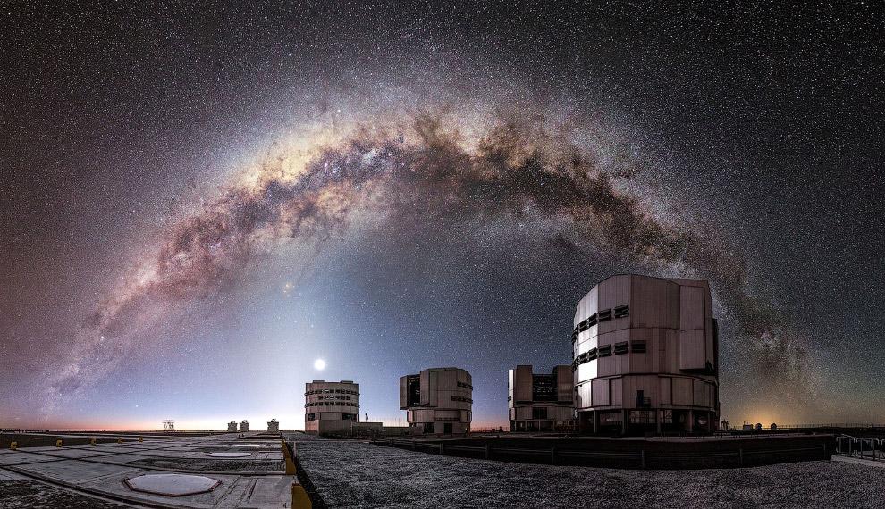 Млечный путь и Европейская южная обсерватория