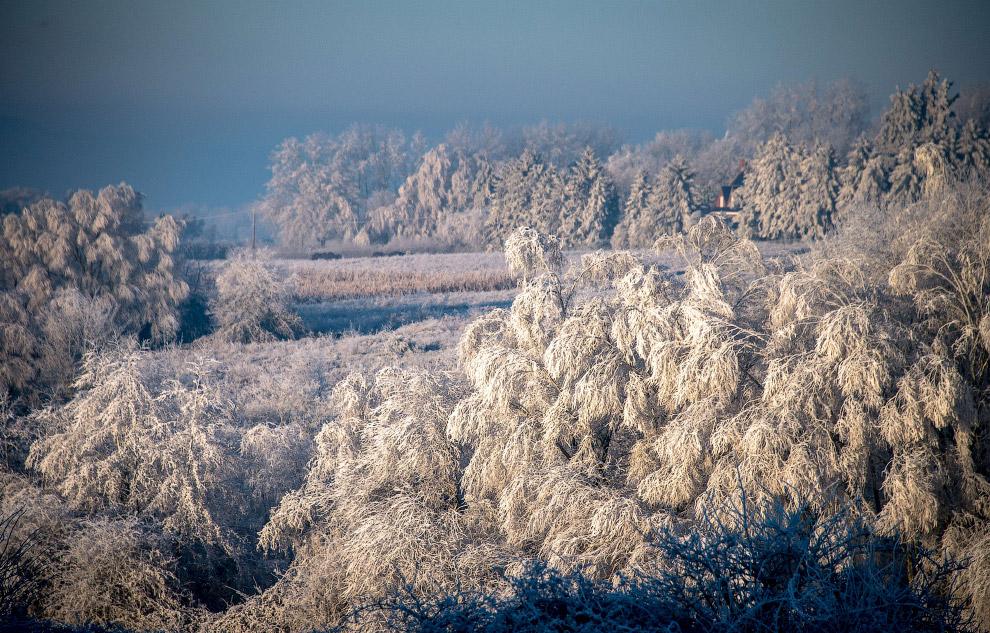 Зимняя красота на северо-западе Франции