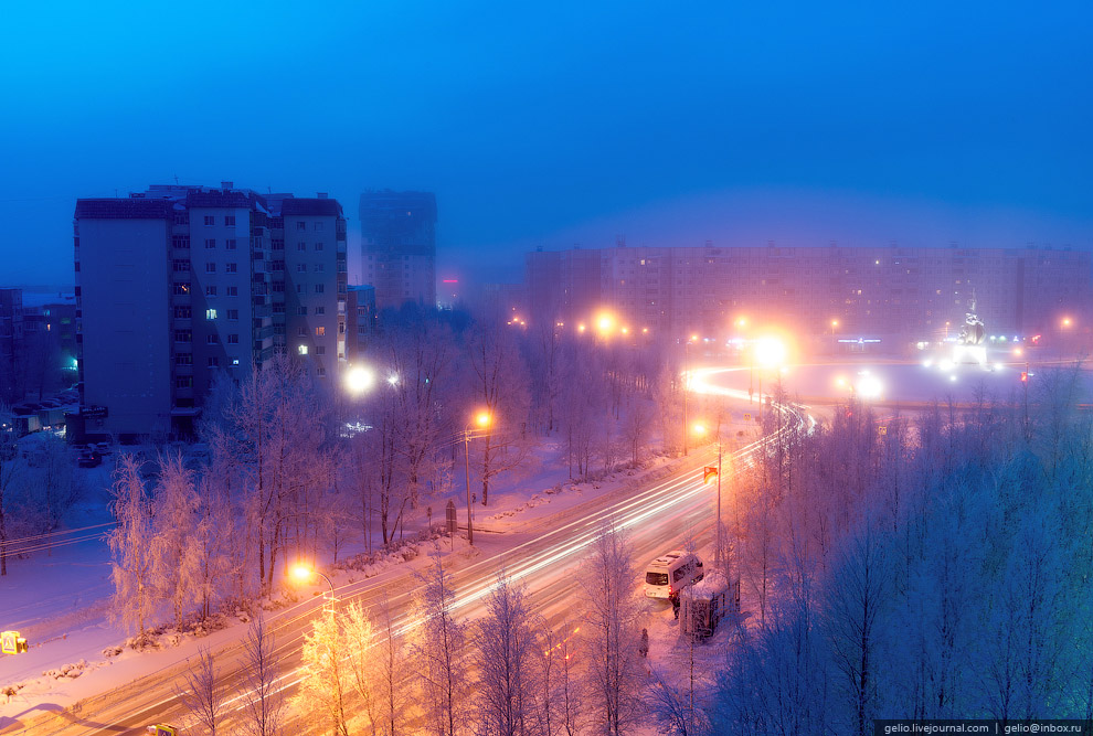 Одна из центральных улиц Сургута — Николая Островского.