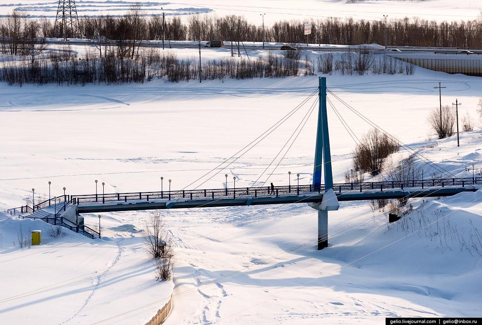 Пешеходный вантовый мост через Сайму