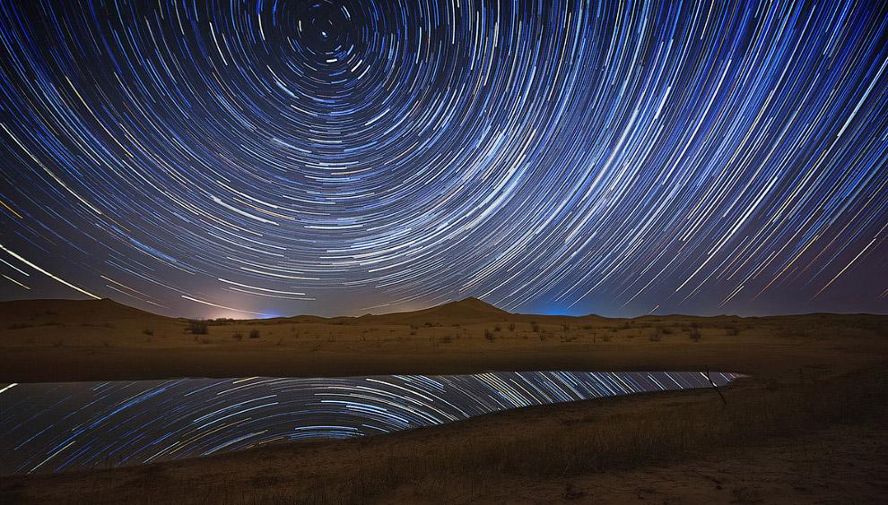 Звездные треки в Эрдосе, Китай