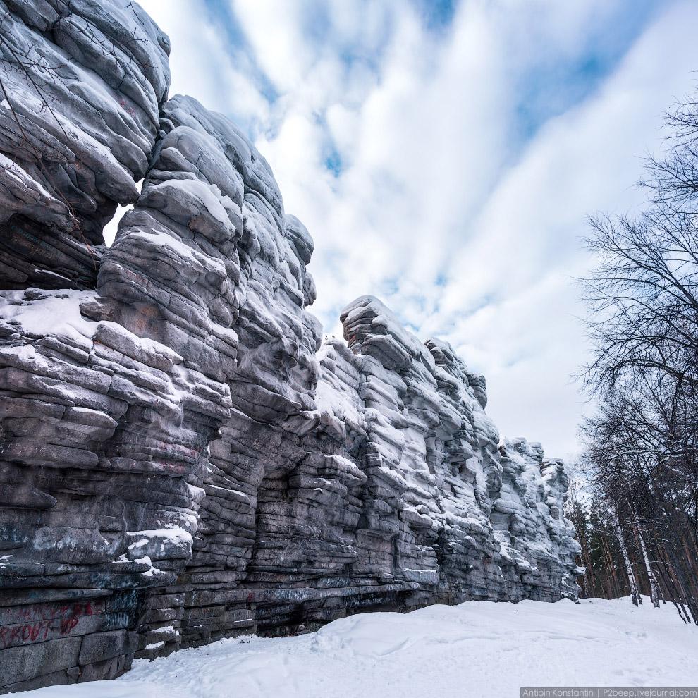 груда скал, именуемая «Чертовым городищем»
