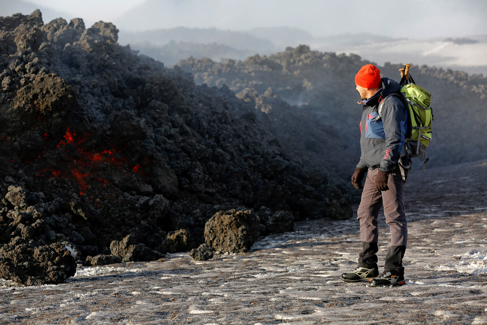 Новое извержение вулкана Этна