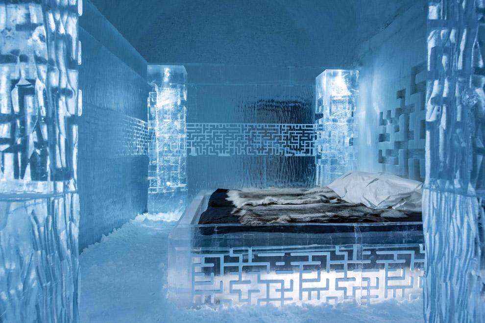 В каждой комнате поддерживается температура от -5 до -8 градусов по Цельсию