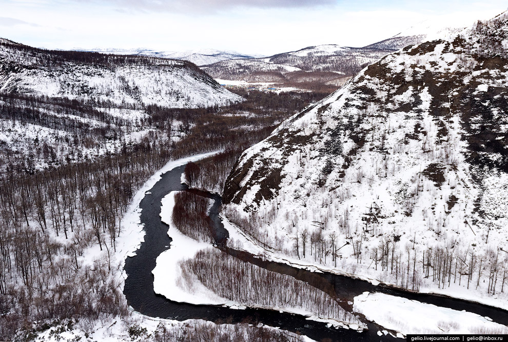 Река Анавгай протекает по территории Быстринского природного парка