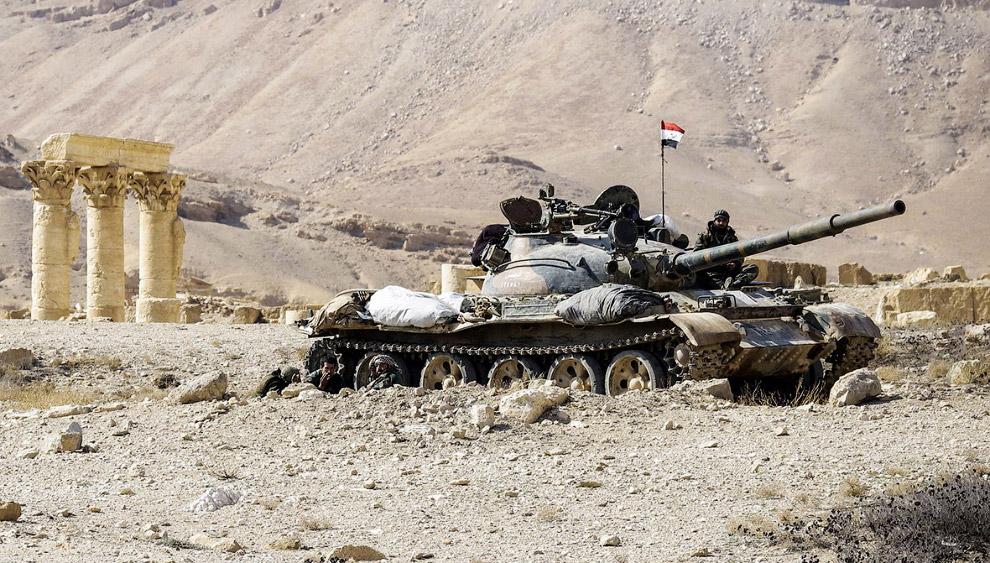 Сирийский танк Т-62