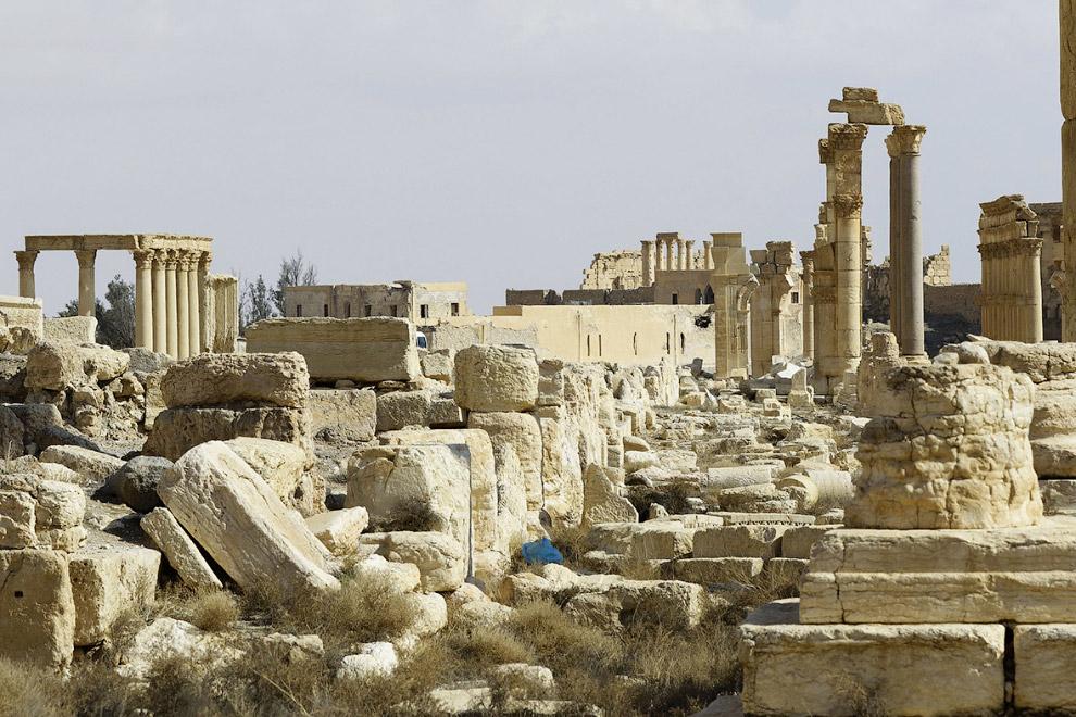 Остатки Пальмиры после нового освобождения города