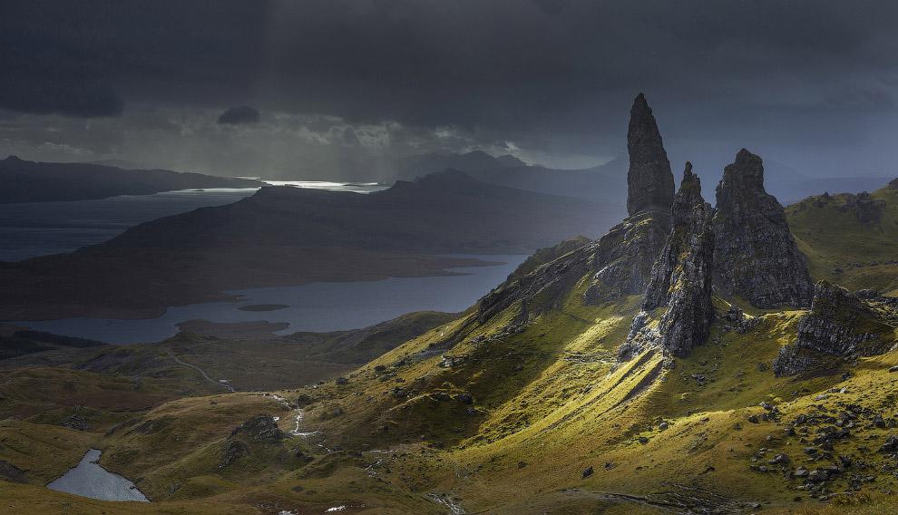 Пейзажи на острове Скай, Шотландия