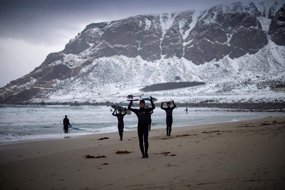 Самая северная школа серфинга в мире