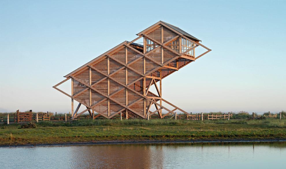 Смотровая башня для наблюдений за птицами, Хайлигенхафен, Германия