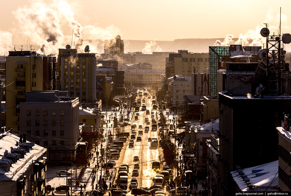 Главная улица Якутска — проспект Ленина.