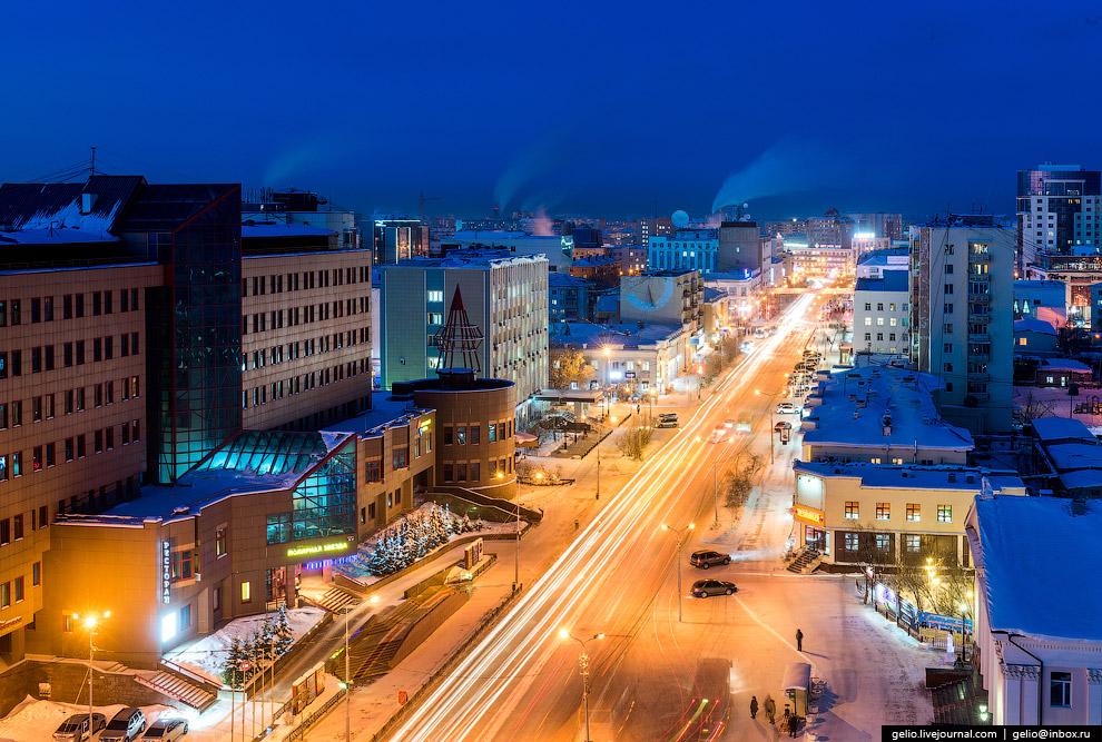 Вечерний проспект Ленина.