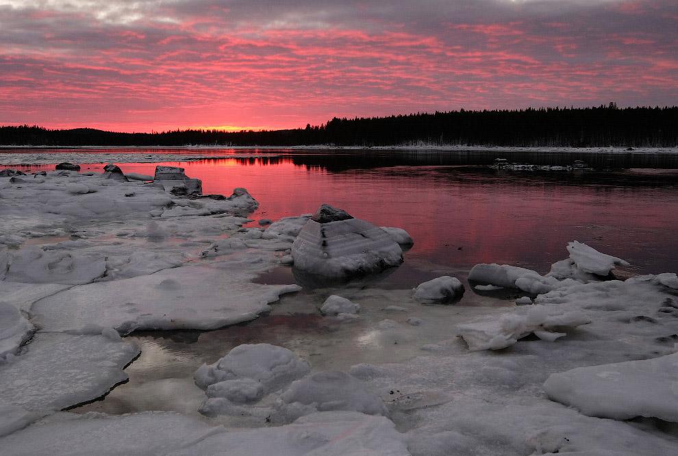 Под ночным небом северной Карелии