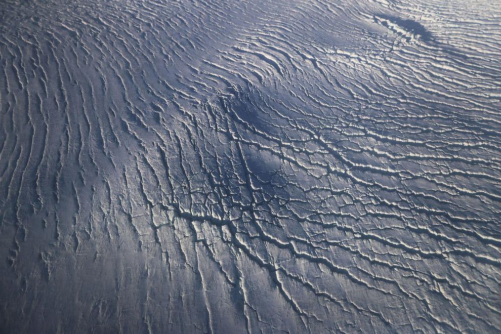 Льды на море Баффина отдаленно чем-то напоминают белую кожу слона