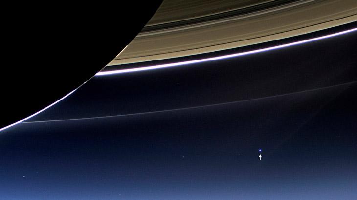 Сатурн, его кольца и наша Земля