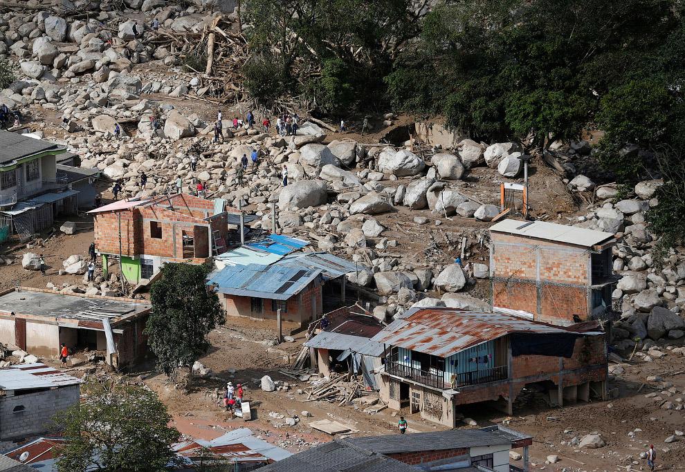 Колумбия: как выглядит селевой поток
