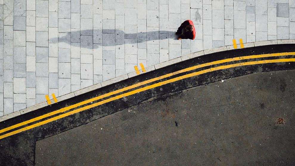 Геометрия тротуара. Бирмингем, Англия