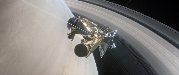 Звуки внутри колец Сатурна.