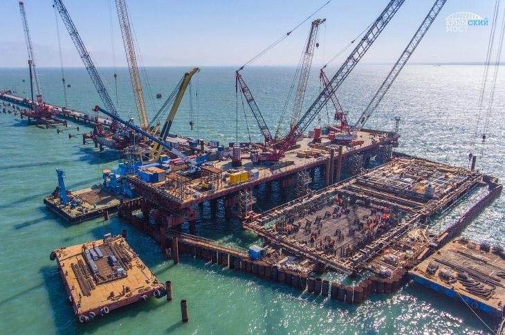 Как идет строительство Крымского моста