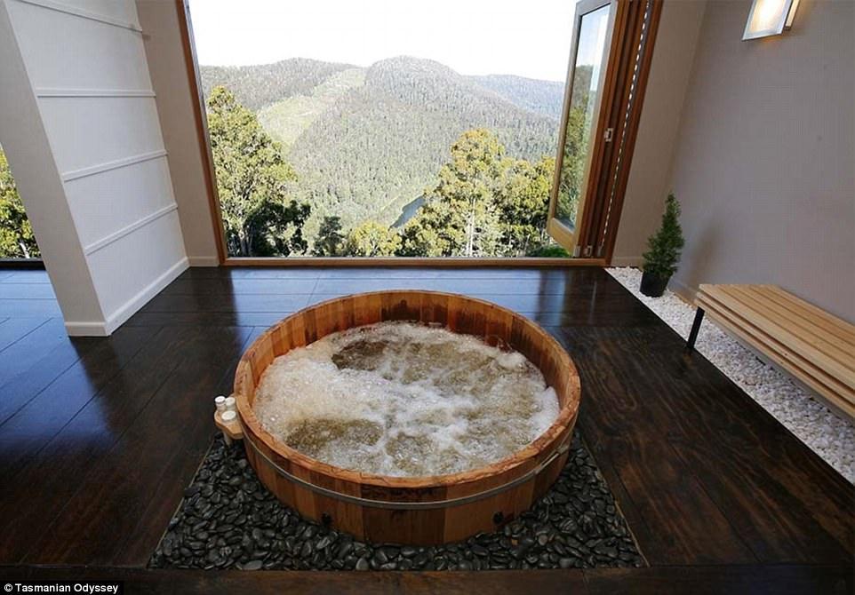 Гидромассажные ванны в высокогорье Тасмании