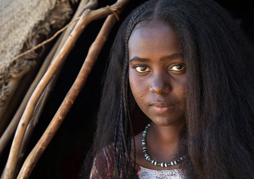 Дівчина з племені Афар з плетеними волоссям