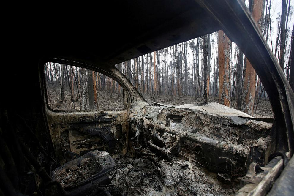 Вот что остается от автомобиля после пожара