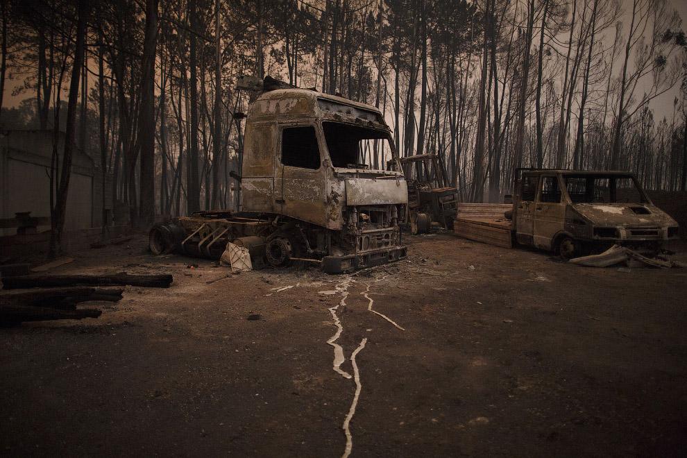 Красивые места в районе Лейрия, Португалия выглядят постапокалиптично