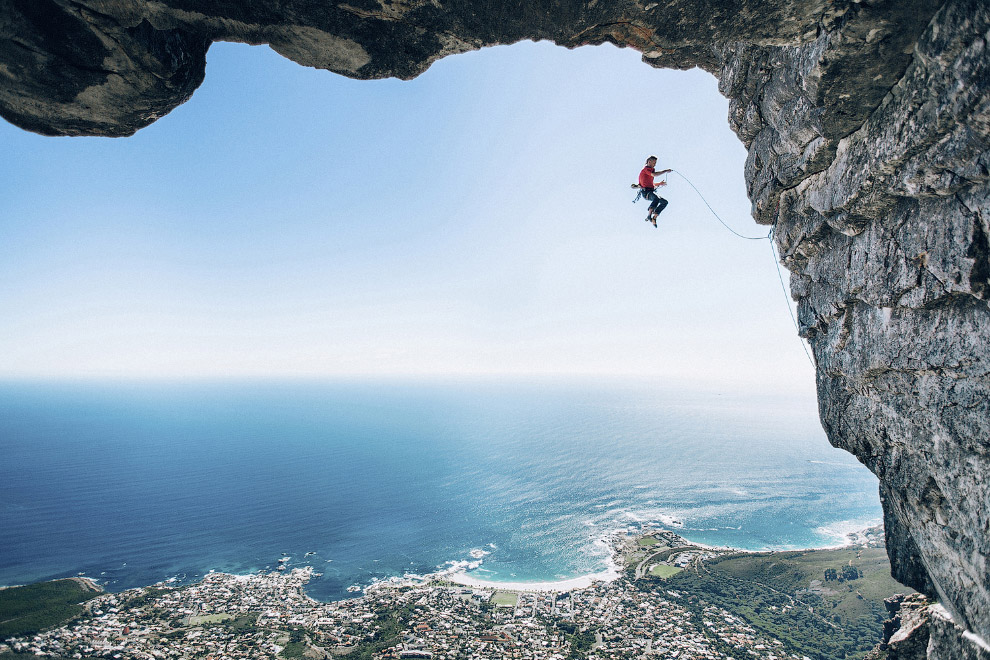 Скалолазы в Кейптауне, Южная Африка