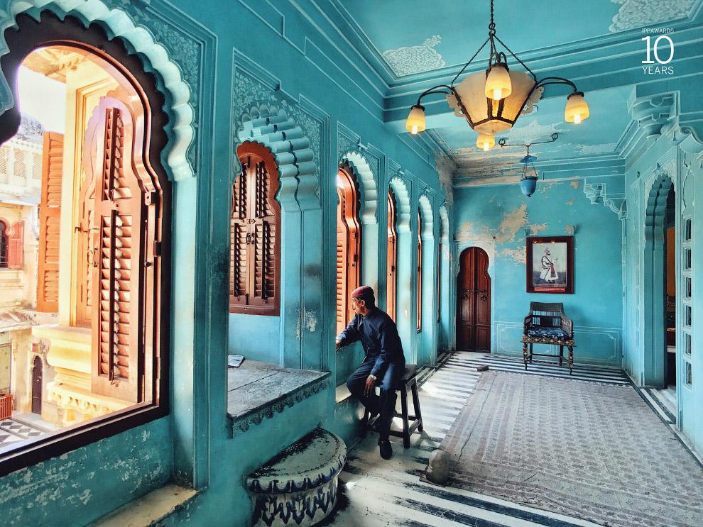 Городской дворец в индийском городе Удайпур в индийском штате Раджастхан