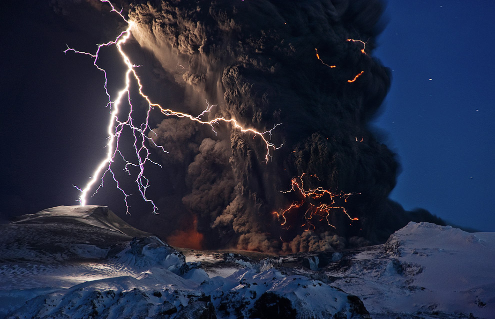 Извержение вулкана Эйяфьятлайокудль