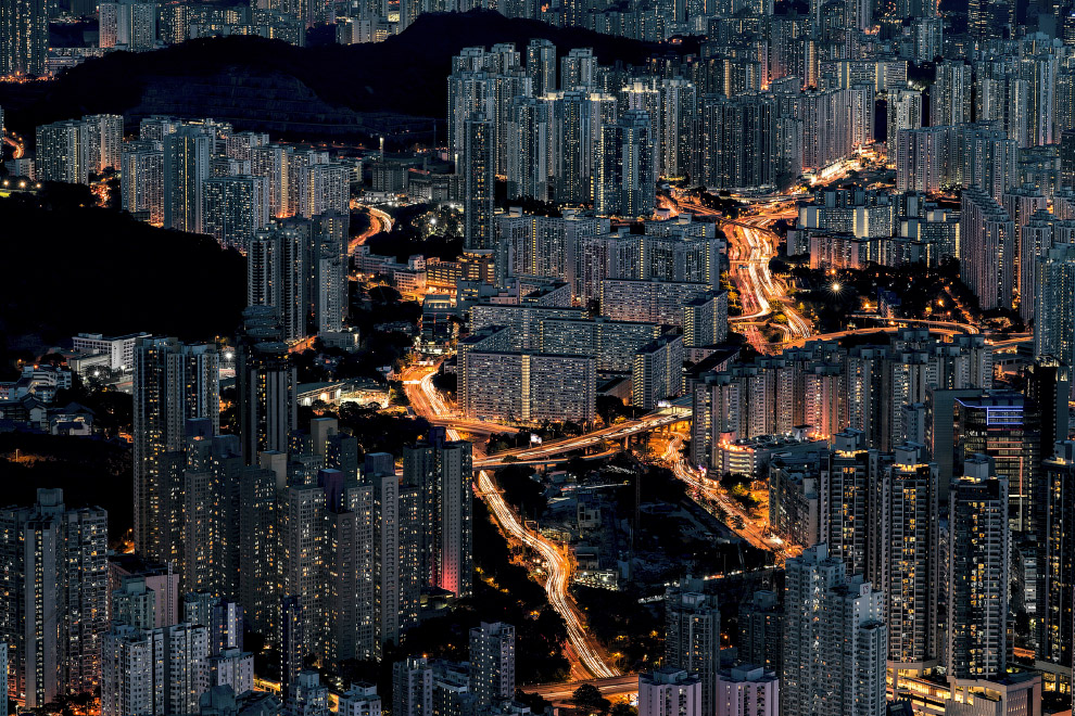 Бесконечные жилые кварталы Гонконга