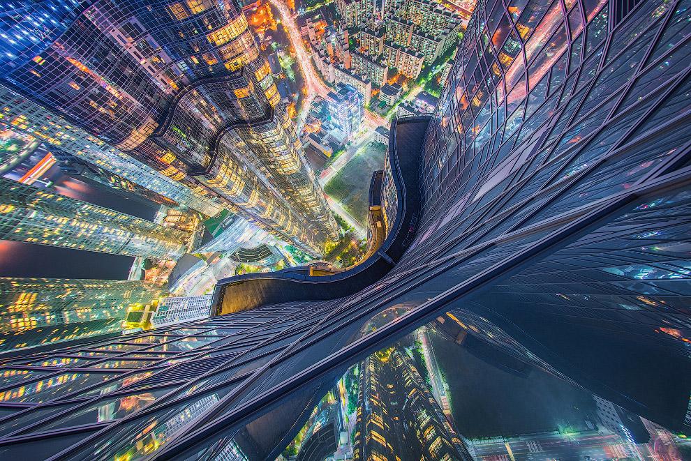 Вид с самого высокого жилого здания в Азии