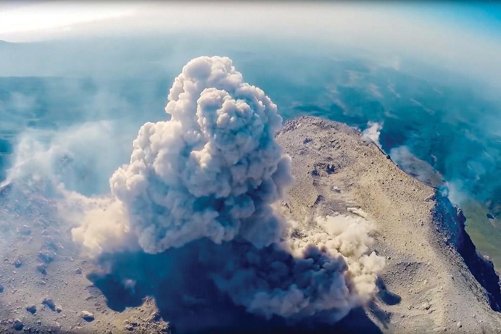 Вулкан Сантьягуито в Гватемале