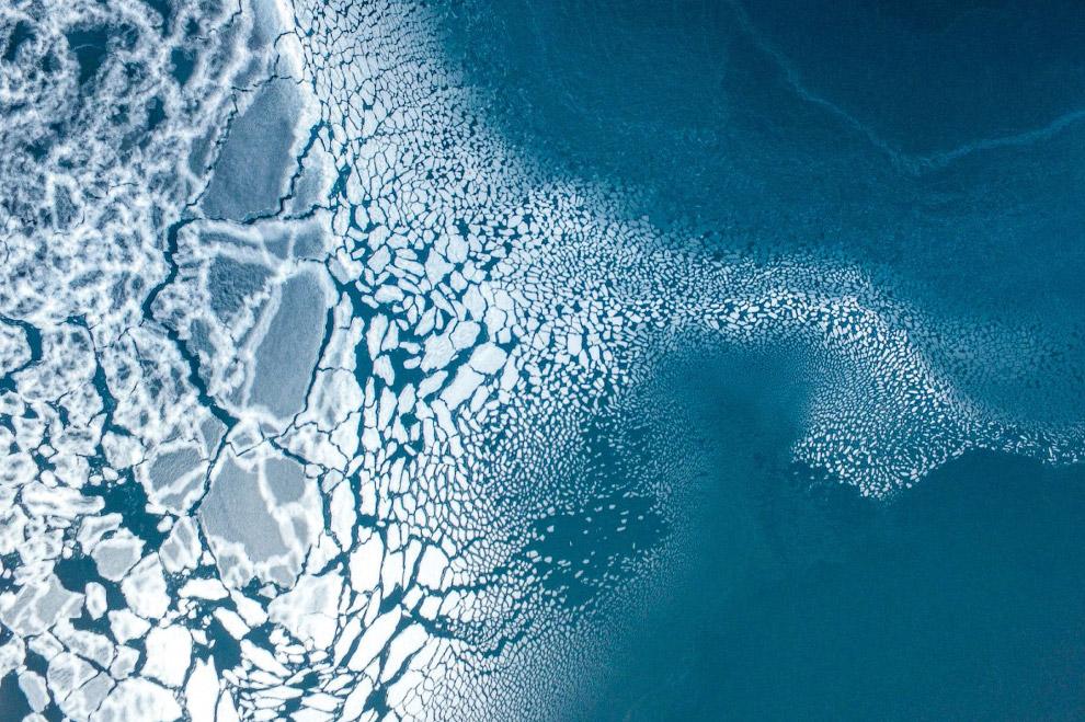Третье место в категории «Природа». Образование льда