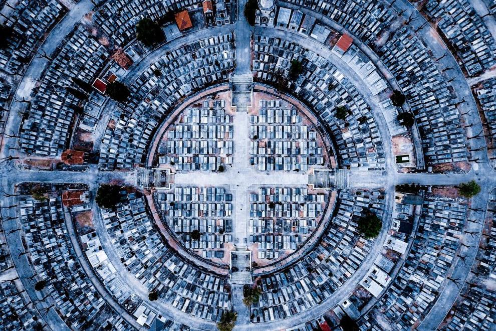 Третье место в категории «Город». Снимок с названием «Спокойствие» был с делан над Мадридом в Испании