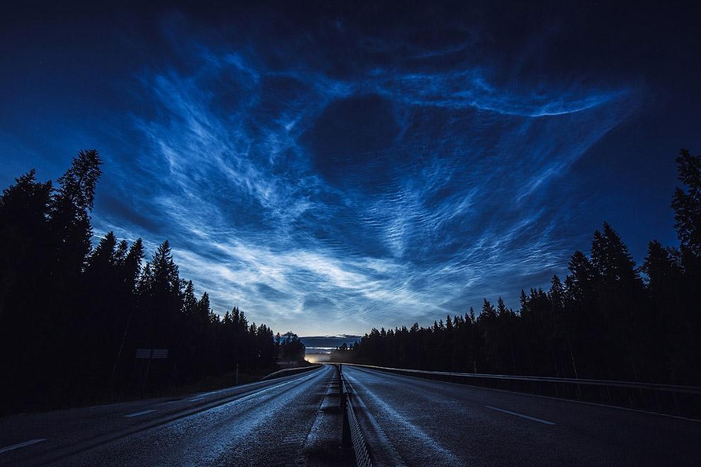 Серебристые облака в Швеции