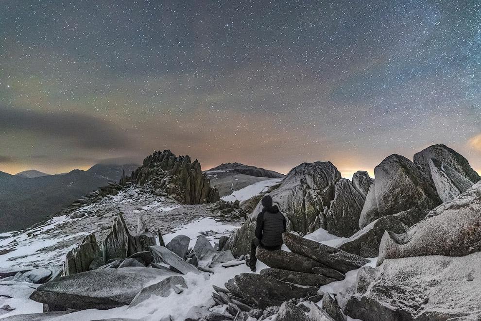Звездный пейзаж в Сноудонии, Северный Уэльс