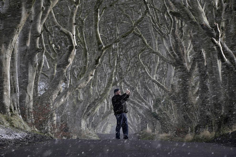 Снег в Антриме, Северная Ирландия