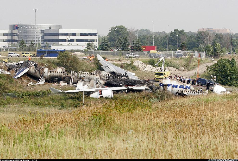 авария самолет A340 авиакомпании Air France