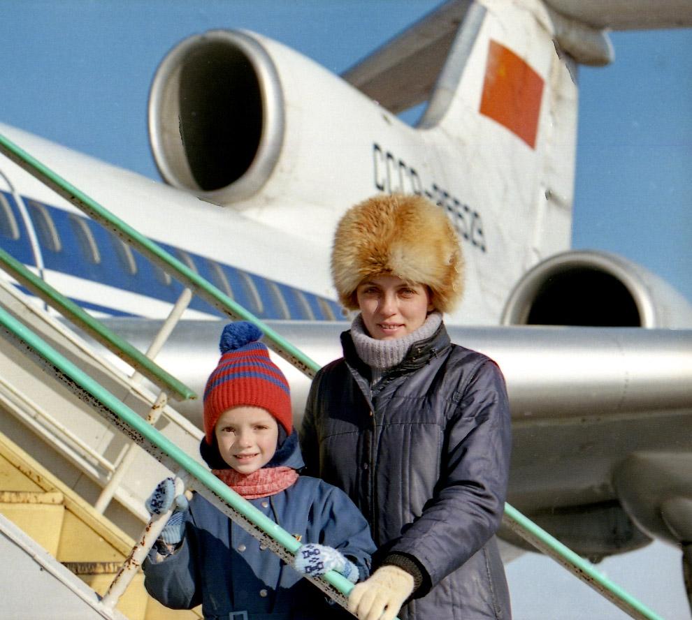 Лариса Савицкая с сыном Георгием