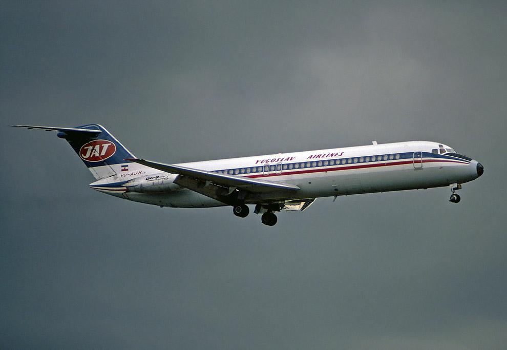 DC-9-32 авиакомпании JAT, идентичный взорванному