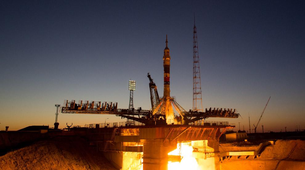 Старт российского космического корабля «Союз МС-05»