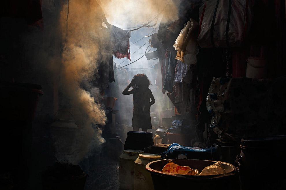 Переулок в Калькутте, Индия
