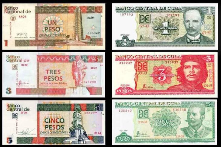 кубинское песо и кубинское конвертируемое песо (CUC)