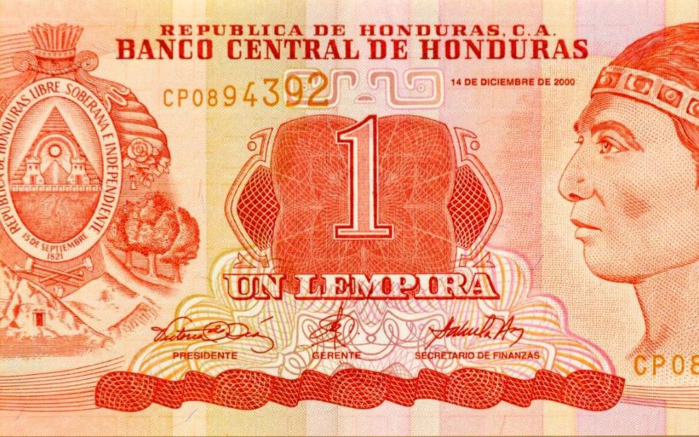 Банкнота из Гондураса