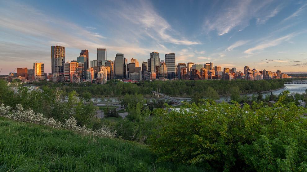 Калгари — крупнейший город в провинции Альберта в Канаде