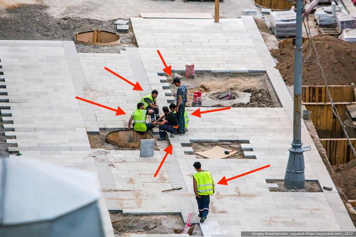 Как работают на стройке-реконструкции Садового кольца