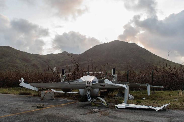Как выглядит местность после урагана