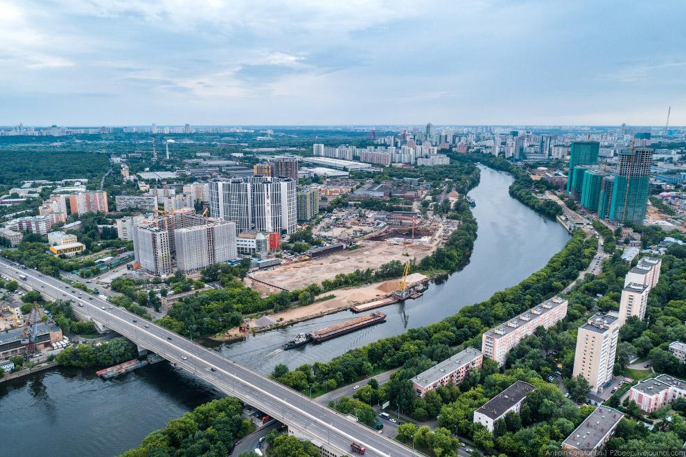 Шелепихинский мост и МФК «Фили-Град».